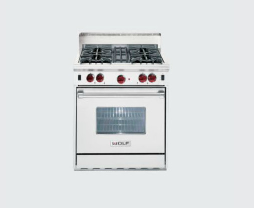 Wolf 30 range 30 quot wolf gas range contemporary gas ranges and