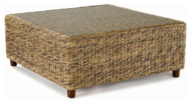 Seagrass coffee table tangiers tropical furniture for Seagrass coffee table