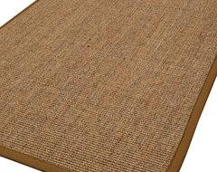"""Hudzon"" Sisal Rug, Sienna Cotton Border transitional-rugs"