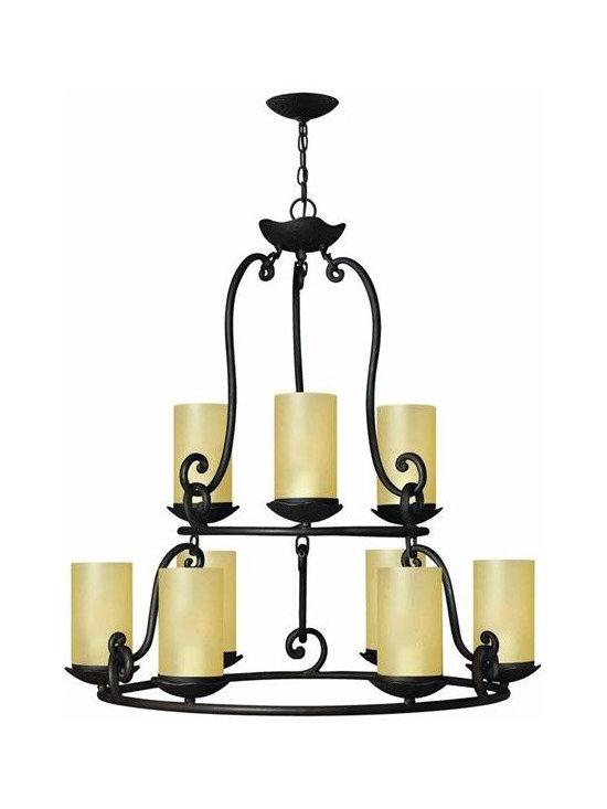 Hinkley Lighting 4058OL 9 Light Chandelier Gold Hill Collection -