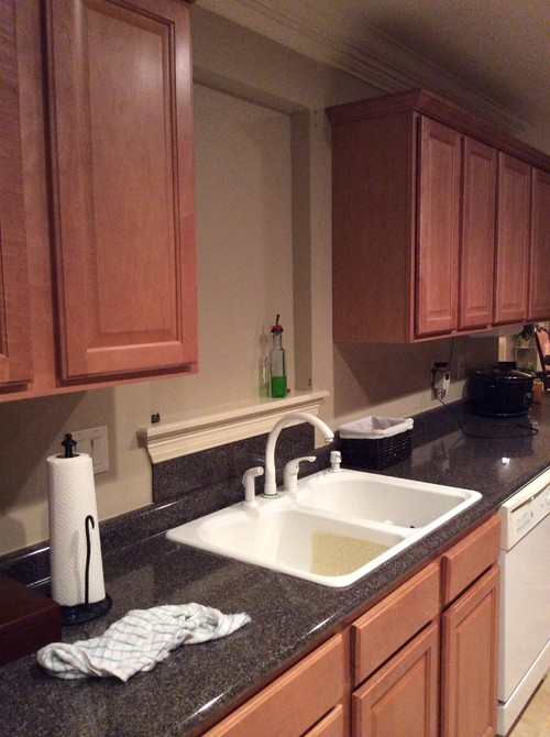 Kitchen sink with no window over it for Kitchen ideas no window