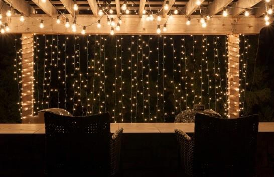 Lighted Pergolas Contemporary Outdoor Lighting