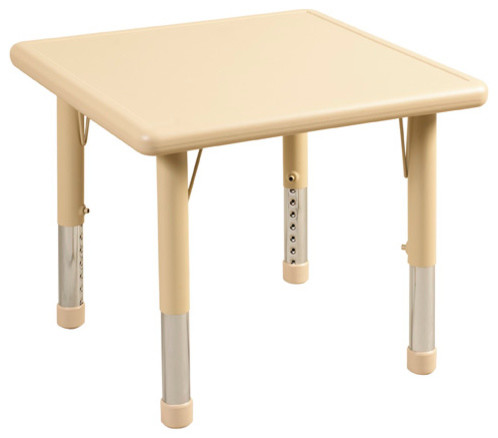 Ecr4Kids Kids Preschool Classroom Square Resin Activity Table 24 Legs