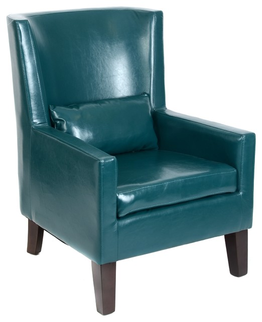 Teal faux leather arm chair home decor by kirkland s