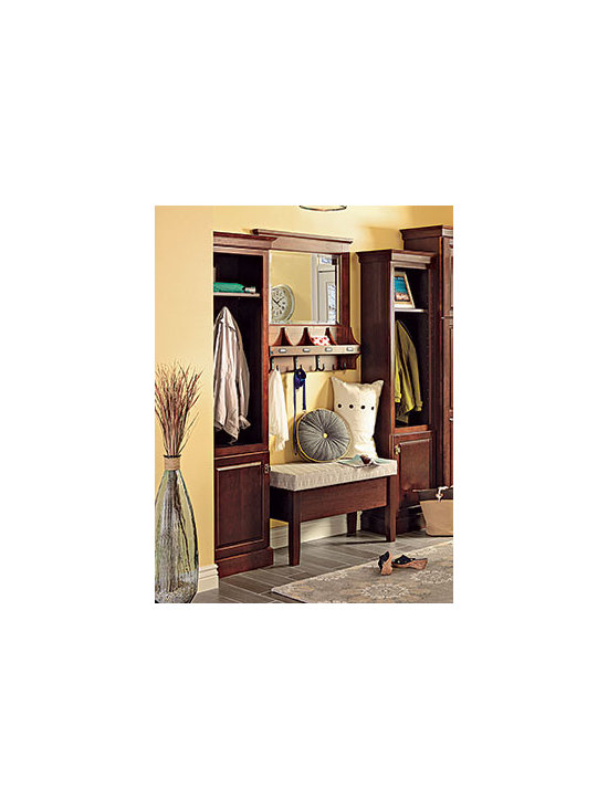 Bookcase Cabinets - Add shelves for display storage, or hooks to hang jackets and hats.