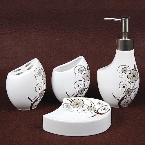 Ceramic bath accessory set contemporary bath and spa accessories