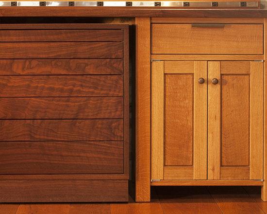 Black Walnut Farm Barn - Cabinets - Interior renovation of 1800's stone barn