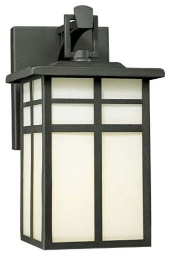 Mission Matte Black Small Outdoor Wall Lantern traditional-outdoor-wall-lights-and-sconces