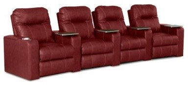 Klaussner Palace Home Theater Group - Red modern-cable-management