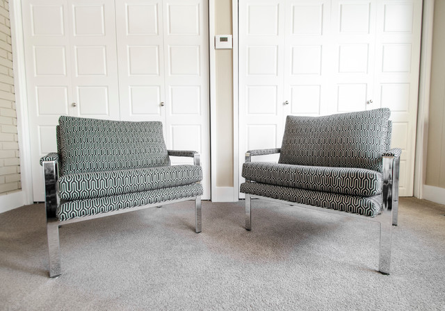 Recently Sold Thayer Coggin Pair of Armchairs contemporary-armchairs-and-accent-chairs