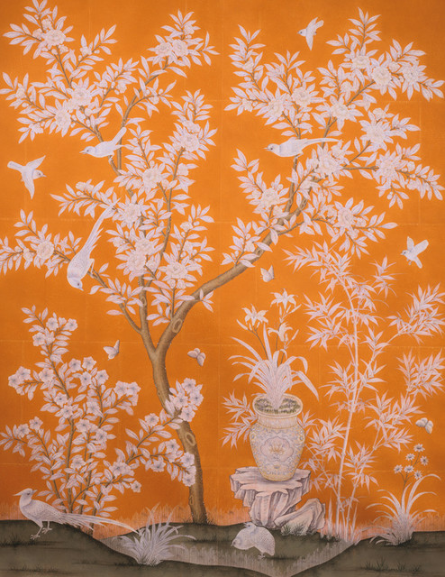 Gracie Hand Painted Panel asian wallpaper