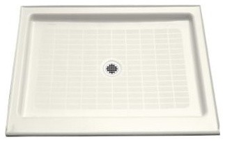 """KOHLER K-9026-96 Purist Shower Receptor, 48"""" x 36"""" in Biscuit traditional-showerheads-and-body-sprays"""