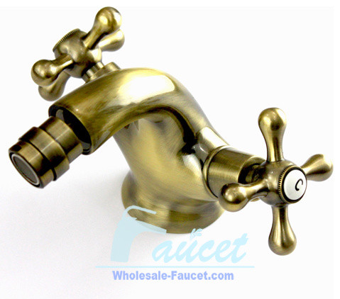 Antique Brass Centerset Bidet Faucet contemporary-bidet-faucets
