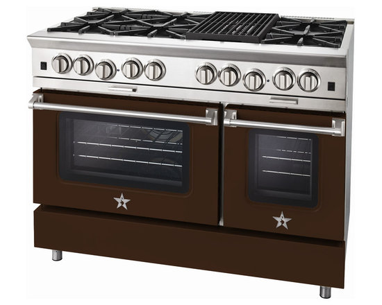 "BlueStar Platinum Series: 48"" Range - 48"" BlueStar Platinum Range in Mahogany Brown (RAL 8016)"