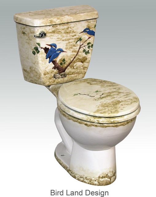 Hand Painted Toilets By Atlantis Tropical Toilets