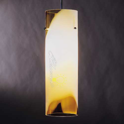 Large Totally Tubular Pendant (Amber) modern-pendant-lighting