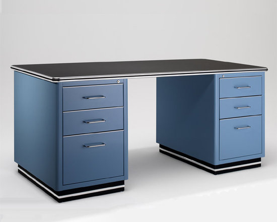 Classic Steel Desk - Features: