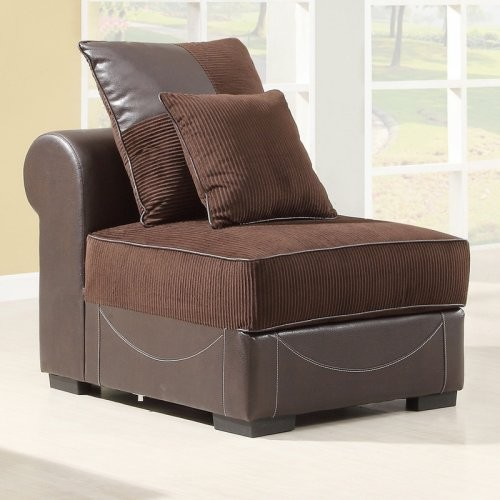 Elsdon Armless Chair with 2 Pillows modern chairs