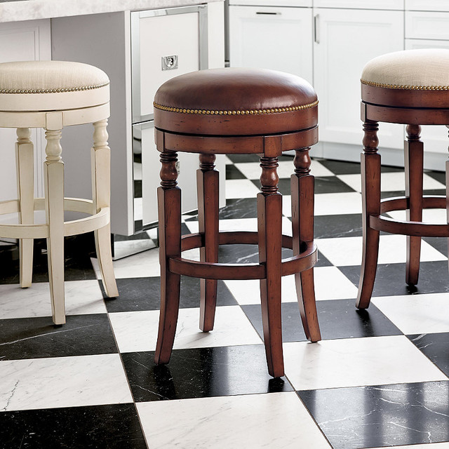 Olivia Swivel Backless Bar Stool - Traditional - Bar ...