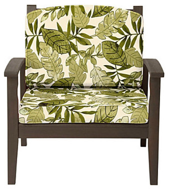 Deep Seat Cushion Set (Box) (17x24x4-1/2 back; 24x24x4 seat) - Island Leaf contemporary outdoor chairs