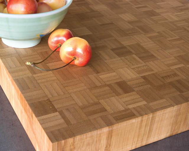 Teragren Parquet Butcher Block Bamboo Worktop - Kitchen Countertops - seattle - by Teragren LLC