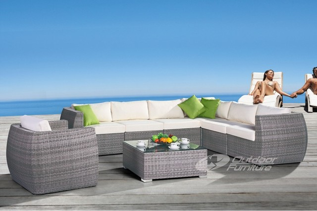 Outdoor rattan furniture DH-608 modern-outdoor-sofas