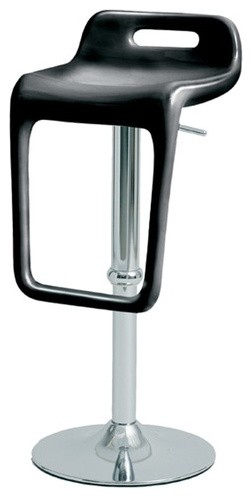 Opener Adjustable Bar Stool in Black modern bar stools and counter stools