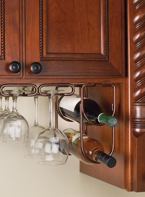 Wine Bottle Rack Double Under Cabinet Organizer - houston - by ...