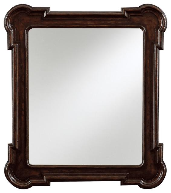 European Farmhouse Captain's Fluted Edge Mirror traditional-mirrors