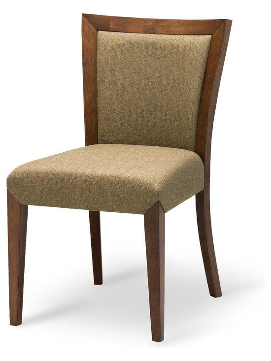 Bryght - Sheila Fabric Upholstered Dining Chair - With its classic flare back design, the Sheila dining chair engages your aristocratic sensibilities with its modern craftsmanship. With crisp clean lines and strong angled joints, the Sheila dining chair makes for a strong and dependable yet chic addition to your dining room decor.