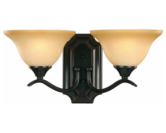 Oil Rubbed Bronze 2 Light Wall Sconce / Bathroom Fixture - Finish:Oil Rubbed Bronze