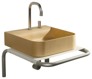 Whitehaus Aela145Bl Aeri Shelf modern-bathroom-sinks