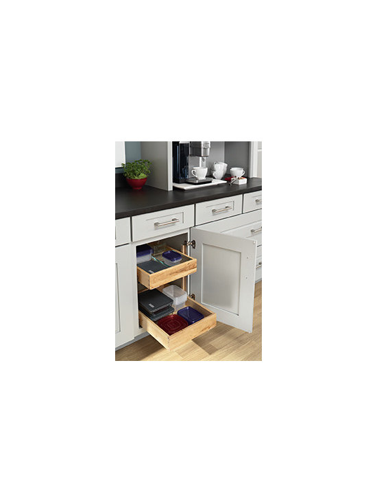 Roll Out Tray Base Cabinet - No more reaching into the back of your cabinet. With these roll out trays, your plastic containers, pots and pans or appliances come to you.