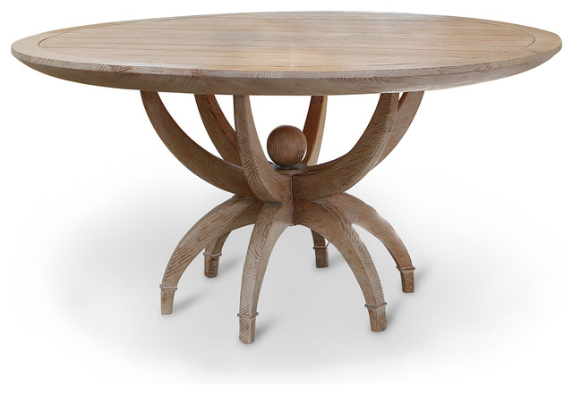 Round Oak Table : ... Limed Oak Contemporary Round Dining Table transitional-dining-tables