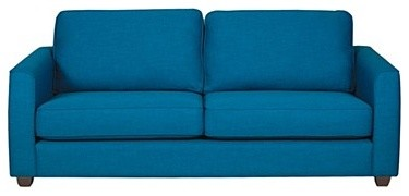 Teal 'Dante' Fabric Sofa Bed With Dark Feet contemporary-sofa-beds