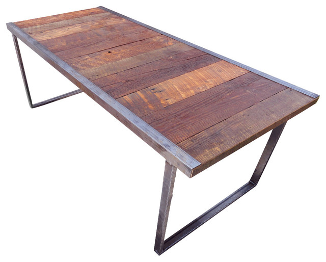 4 Ft Outdoor Industrial Dining Table Rustic Patio Furniture And Outdoor F