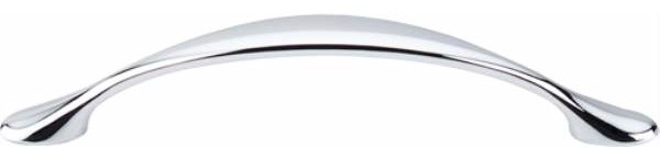Top Knobs: Hartford Pull 3 3/4 Inch (C-C) - Polished Chrome contemporary-cabinet-and-drawer-handle-pulls