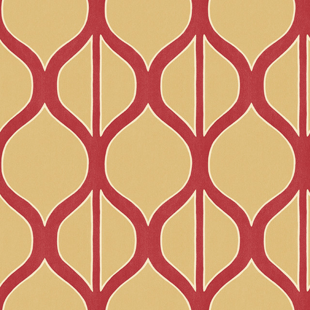 Shand Kydd Coniston Red Cream Traditional Wallpaper