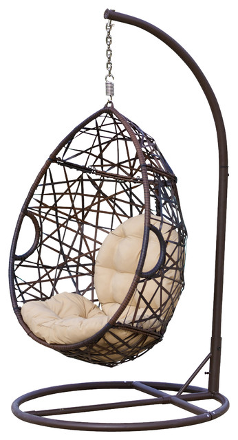 Berkley Outdoor Swinging Egg Chair Contemporary Hammocks And Swing Chairs
