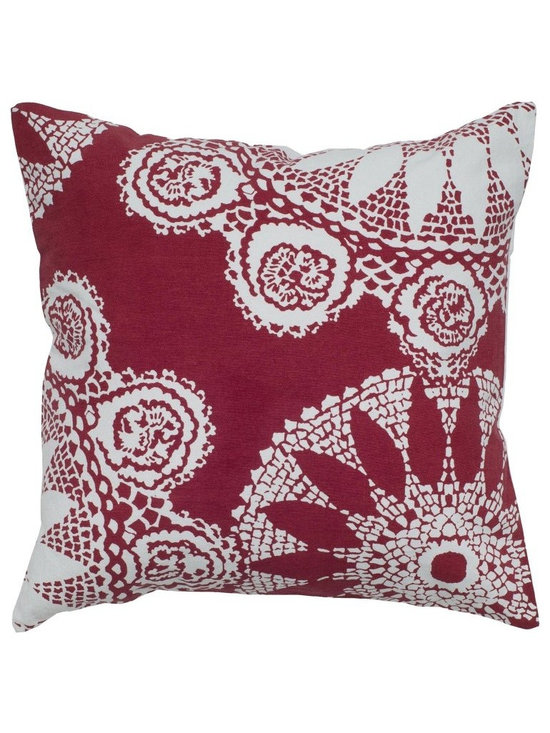 Rizzy Home - Rizzy Home 100% Cotton Tile Print Decorative Throw Pillow - T05233 - Shop for Pillowcases and Shams from Hayneedle.com! Visual drama comes home with the Rizzy Home 100% Cotton Tile Print Decorative Throw Pillow. You'll love the printed lace design on this pillow. It comes in your choice of vivid color and has a 100% cotton fabric cover hidden zipper and removable polyester insert. Hand wash the cover in cold water and lay flat to dry.About Rizzy HomeRizwan Ansari and his brother Shamsu come from a family of rug artisans in India. Their design color and production skills have been passed from generation to generation. Known for meticulously crafted handmade wool rugs and quality textiles the Ansari family has built a flourishing home-fashion business from state-of-the-art facilities in India. In 2007 they established a rug-and-textiles distribution center in Calhoun Georgia. With more than 100 000 square feet of warehouse space the U.S. facility allows the company to further build on its reputation for excellence artistry and innovation. Their products include a wide selection of handmade and machine-made rugs as well as designer bed linens duvet sets quilts decorative pillows table linens and more. The family business prides itself on outstanding customer service a variety of price points and an array of designs and weaving techniques.