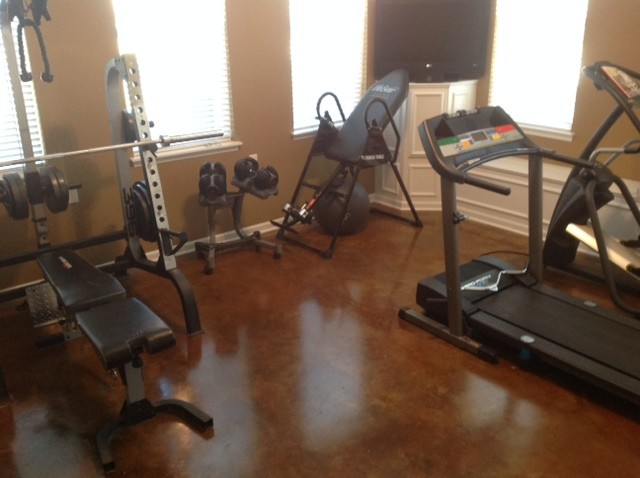 Garage conversion industrial home gym nashville by