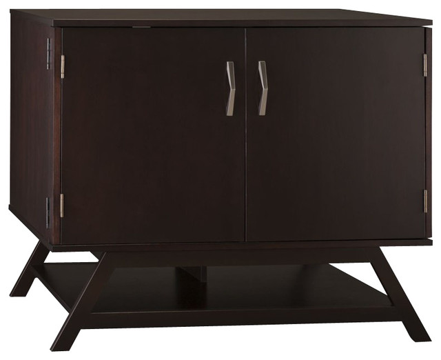 """Bush Canted Compact 36"""" Office/Storage Cabinet in Macchiata Coffee - Transitional - Storage ..."""