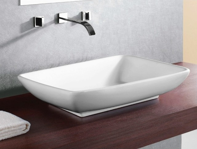 Small Rectangular Vessel Sink : Rectangular White Vessel Ceramic Sink - Contemporary - Bathroom Sinks ...