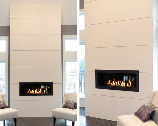 Concrete Fireplace Surrounds - Wall panels designed and handmade by DEKKO Concrete.  Panels are made of lightweight concrete and available in a variety of sizes.  Available in 6 colors and for shipment worldwide.