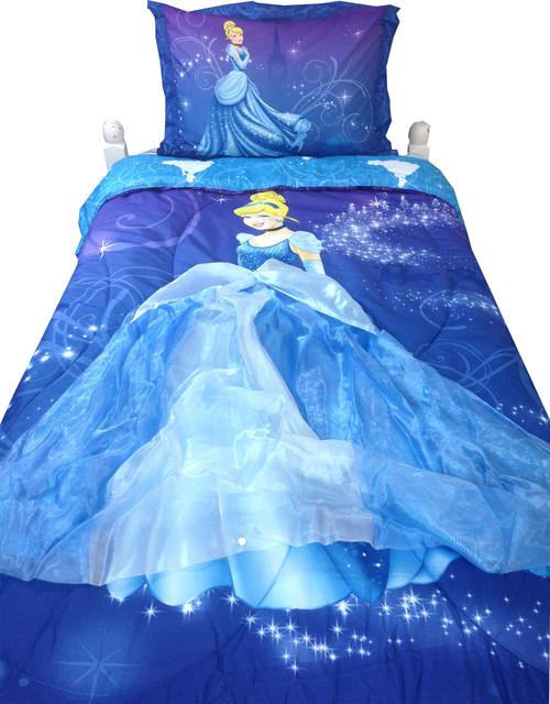 Disney Cinderella Twin Comforter Set Night Sparkles