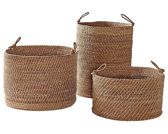 Serena & Lily - Laguna Seagrass Baskets  Set of 3 - All of my clients know that baskets are my go-to for decorating. They are perfect for storage as well as adding interest, texture and layers to a room. I love these simple sea grass baskets. They work in any space, and you can't beat the price for a set of three.
