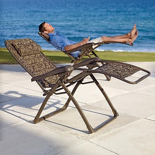 Mesh Zero gravity Recliner Lounge Chair Traditional Outdoor Chaise Lounge