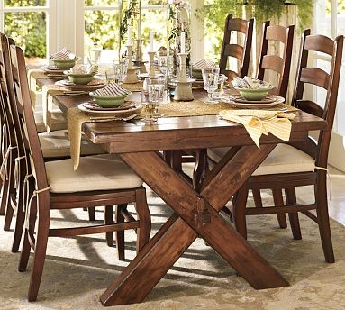 Toscana extending dining table 88 5 x 40 tuscan chestnut for Barn style kitchen table