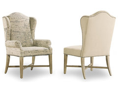Wing Back Arm Chair Parchment 3017-75500 Sanctuary Hooker Outlet Discount Furnit -