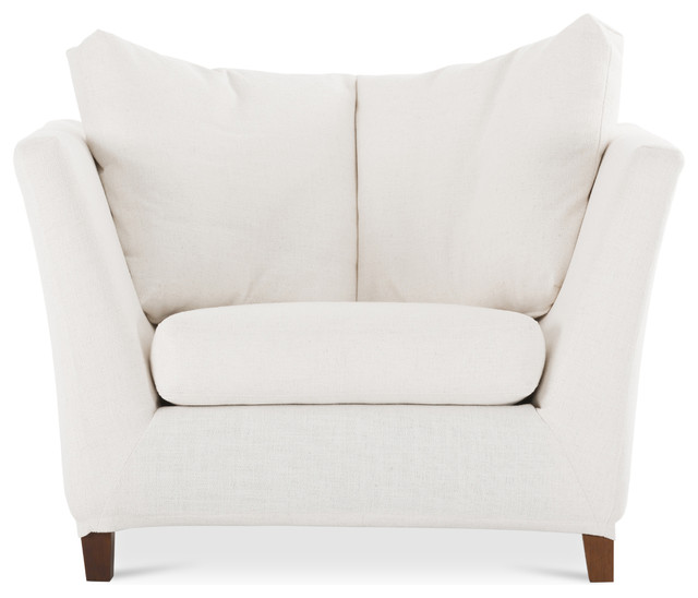 Long island white armchair modern armchairs and accent chairs